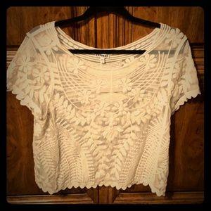 Express Sheer Quaker Lace blouse